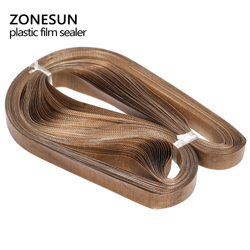 ZONESUN 50pcs/lot 750*15mm belt for FR-900 /SF-150 band sealer/plastic bag sealing machine/plastic film sealer