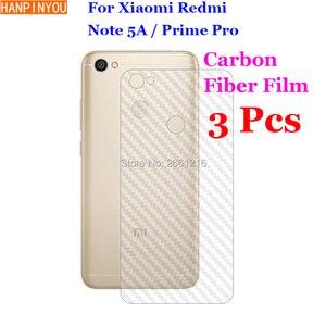"""3 шт./лот для Xiaomi Redmi Note 5A Pro/премьер-5.5 """"3D Нескользящие ясно углеродного Волокно сзади плёнки Экран протектор Защитная Стикеры"""