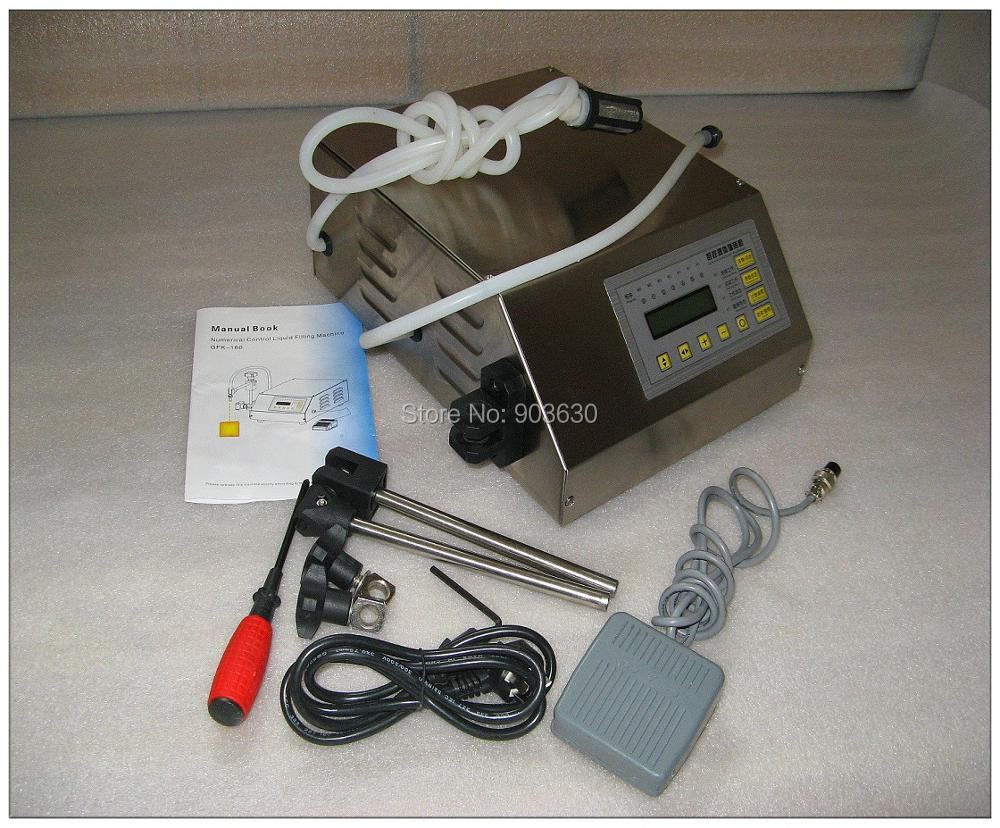 GFK-160 5-3000ML Manual Digital Control Pump Drink Water Liquid Filling Machine Bottle Filling Machine Mini Juice Milk Filler