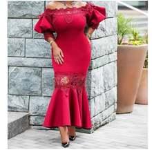 Женское платье Русалка с открытыми плечами кружевное элегантное