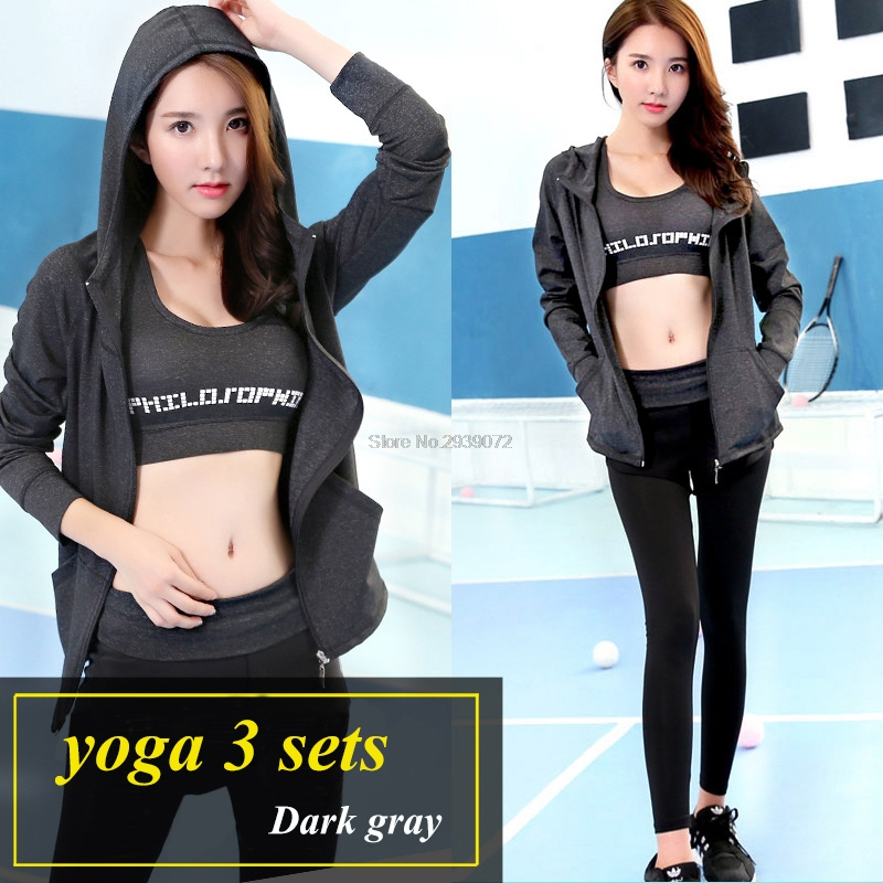 Hot Sale Női 3 darab Jóga készletek Fitness ruhák Lulu sportruházat edzés Crossfit kocogás öltöny edzés felszerelés tornaterem Activewear
