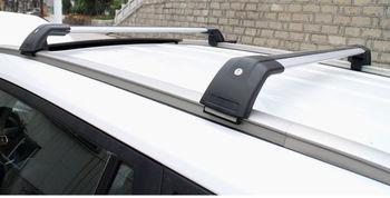 2 pcs Rak lintang rak Atap bar tubuh Utama paduan aluminium Untuk BMW X1 2010-2016