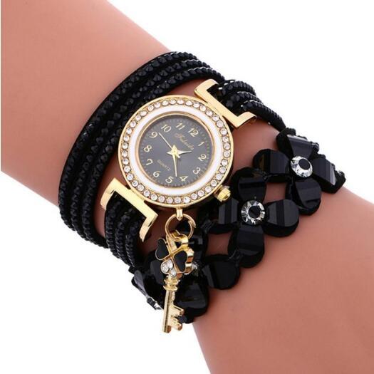 Watch 2019 Woman Watches Chimes Diamond Leather Bracelet Lady Woman Watch Gift Relogio Feminino Zegarek Damski Montre Homme