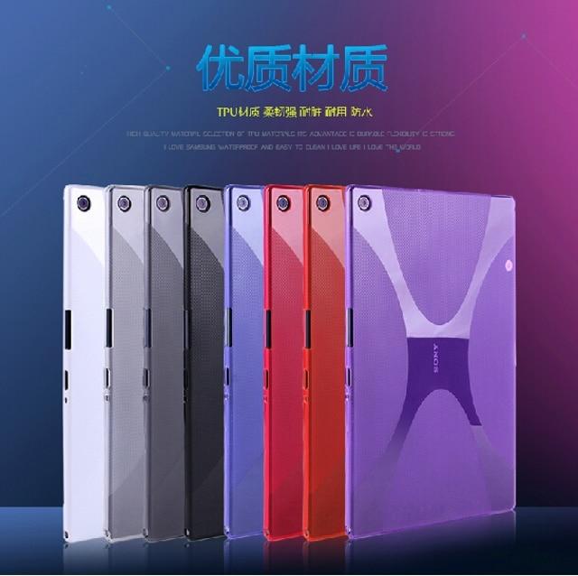 """Νέα πολυτελή πολυτελή σιλικόνη X Γραμμή μαλακό καουτσούκ πυριτίου TPU κάλυμμα κάλυψης δέρματος κάλυψης δέρματος για το Sony Xperia Tablet Z2 SGP541 / 511 / 512CN 10,1 """""""