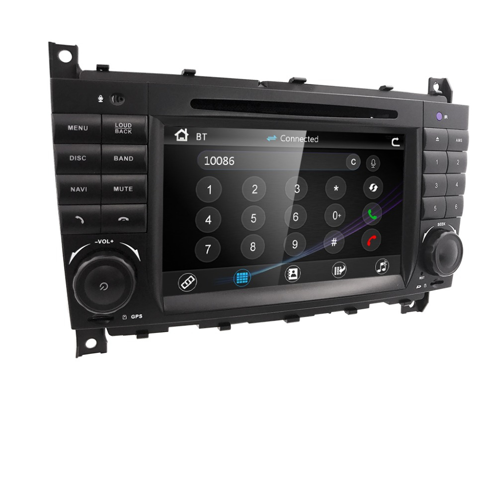 HIZPO <font><b>2DIN</b></font> Car DVD GPS For Mercedes Benz W203 C200 C230 W209 CLK Radio DVD GPS Navi Car Stereo radio stereo autoaudio multimedia image