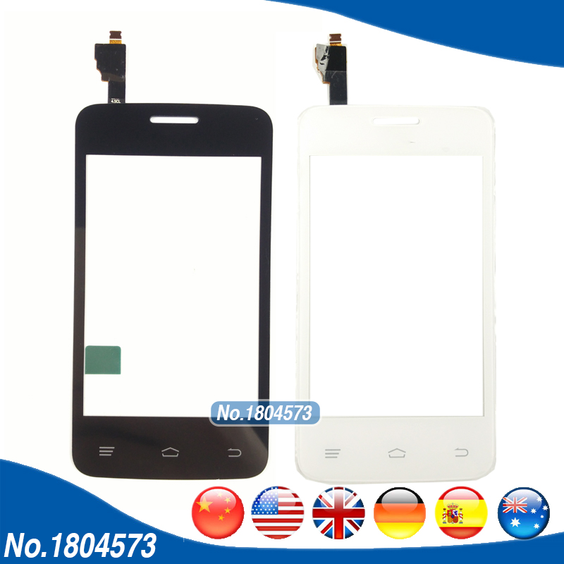 Touchscreen Panel Glass Len For Fly IQ434 IQ 434 ERA Nano 5 Touch Screen Digitizer Replacement Parts Black White Color 1PC/Lot