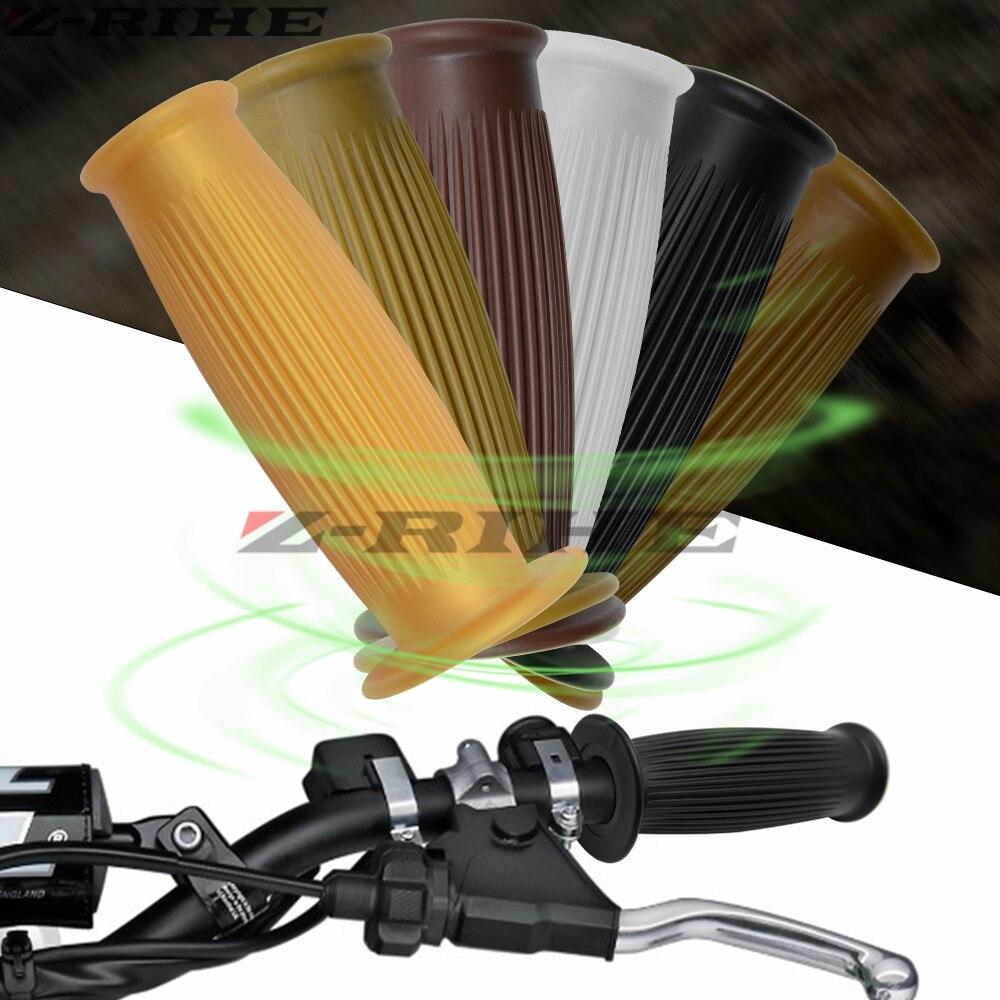 Motorcycle 7/8'' 22mm Retro Rubber Handlebar Hand Grip For YAMAHA YZF R1 R6 R3 Kawasaki ER6F ER6N ER 6N 6F Z800 Ducati 899 959
