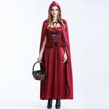 Deguisemen Halloween Carnival Games Cosplay Outfits Fancy Dress Sexy Costumes Plus Size Little Red Riding Hood Costume For Women