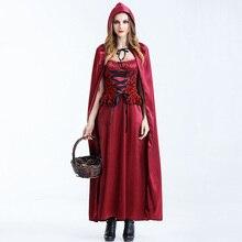 Deguisemen Juegos de Carnaval de Halloween Cosplay Trajes de Disfraces Trajes Atractivos Más Tamaño Traje de Caperucita Roja Para Las Mujeres