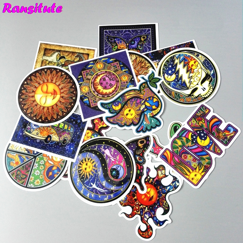 25pcs/set Harajuku Starry Doodle Sticker DIY Skateboard Laptop Luggage Mobile Phone Car Waterproof Sticker