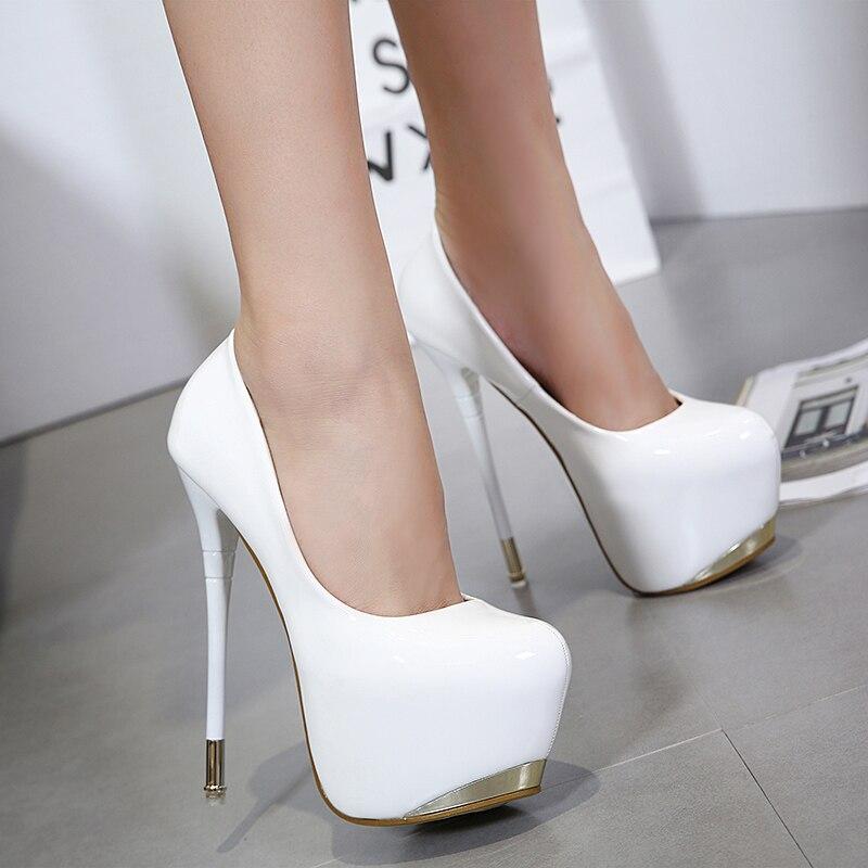 Sexy Simple Suede Stiletto 2018 alta Cm Tacón rojo black Mujer Estilo Nocturno Super De Negro zapatos Alto Zapatos Americano red 16 Club Suede blanco Europeo Elegante YzxnTgz