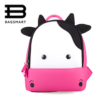 BAGSMART Animals Backpack For Kids Baby Bags Waterproof Kindergarten 3D Cow School Bags For Girls Cute