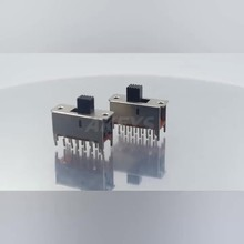 SS-42F01 4P2T Four pole double throw 2 position slide switch 12 pin DIP type with 4 fixed pin handle heights can be customized 100pcs 6p 6 position dip switch 2 54mm pitch 2 row 12 pin