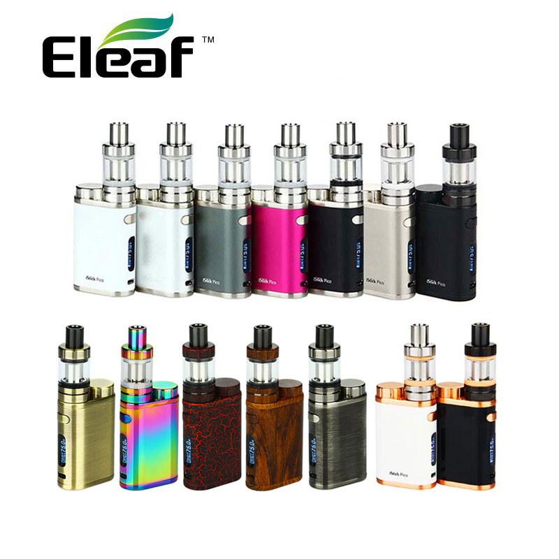 Colorful Original 75W Eleaf IStick Pico TC Full Kit with 2ml Eleaf MELO 3 Mini Tank Supports VW/Bypass/TC/TCR Modes No Battery