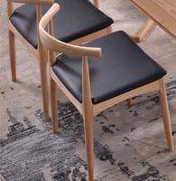 Eten stoel Kennedy familie leisure stoel van cafa houten ox hoorn fraxinus mandshurica geïmporteerde materialen Gratis verzending