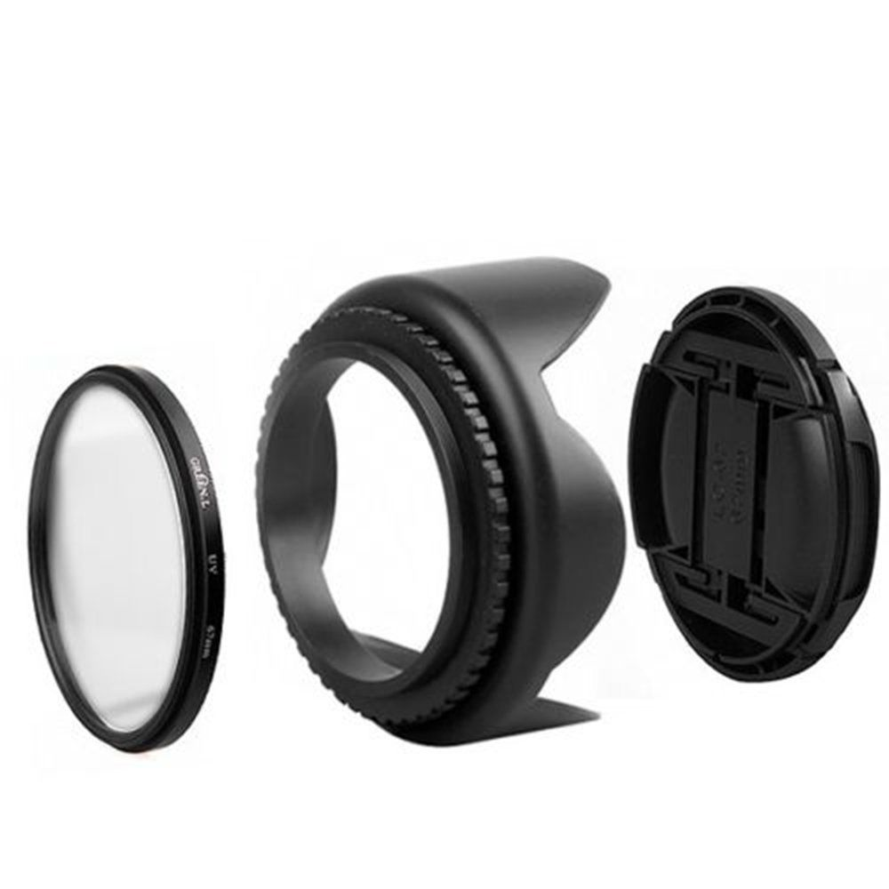 58mm 3 Piece Filter Kit + 58mm Tulip Lens Hood Sigma SLR Lenses Fuji UV-CPL-FLD 58mm Soft Rubber Hood 58mm Lens Cap Panasonic Nikon Cameras and Camcorders for Select Canon Sony Olympus