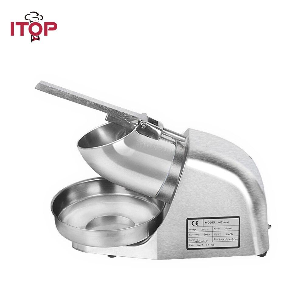 ITOP électrique concasseurs à glace Commercial rasoirs Machine neige cône bloc en acier inoxydable processeurs alimentaires