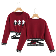 BF Spirited Away O-Neck Sweatshirts Women Long Sleeve Sweatshirt 2019 Hot Sale Casual Streetwear Sexy Clothes Size From S to 2XL