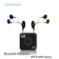 APTX Bluetooth 4.2 מקלט אלחוטי עבור טבליות Mp3 סטריאו אודיו מוסיקה משדר FM טלוויזיה לרכב