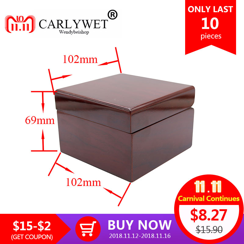 CARLYWET Wholesale Fashion Luxury Wood Watch Box Jewelry Storage Case Gift Box With Pillow For Rolex Omega IWC Breitling Tudor fashion watch box luxury wood watch box with pillow package case watch jewelry storage gift box