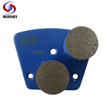 RIJILEI 12PCS/Set 25*12.5mm*2T  Diamond grinding disk for concrete terrazzo floor Grinding Bond Floor Disc A20B