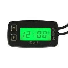 RL-TM005 thermometer voltmeter clock temperature SENSOR voltage meter for pit bike motorcycle snowmobile atv boat engine цена