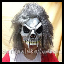 New Arrival Halloween Party Cosplay Zombie scary mask with hair ,deluxe adult head skull mask for halloween party free shipping