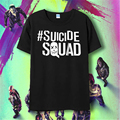 Suicide squad men t shirt Harley Quinn joker deadshot tshirt male Rick Flag mens shirts Boomerang Suicide squad