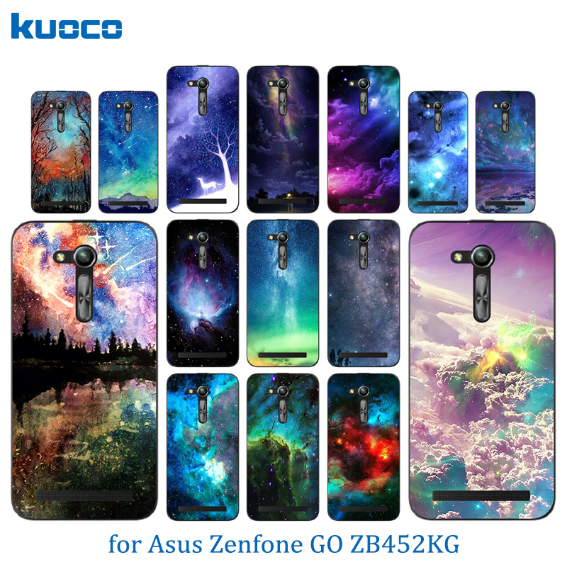 Case For Asus ZB450KL Cases Starry Sky Pattern For Asus Zenfone GO 2nd Gen ZB452KG ASUS_X014D ZB450KL 4.5 inch Case Cover ...