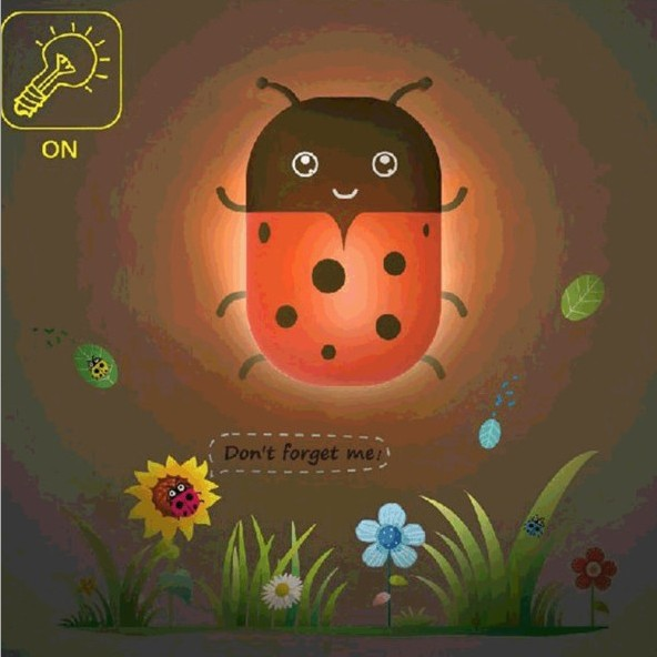 cheap Created Paper Wall Lamp Sensor Control Led Small Wall light for Bedroom Baby Night Light sconces honeybee/ladybug/dolphin/giraff pic,image LED lamps offers