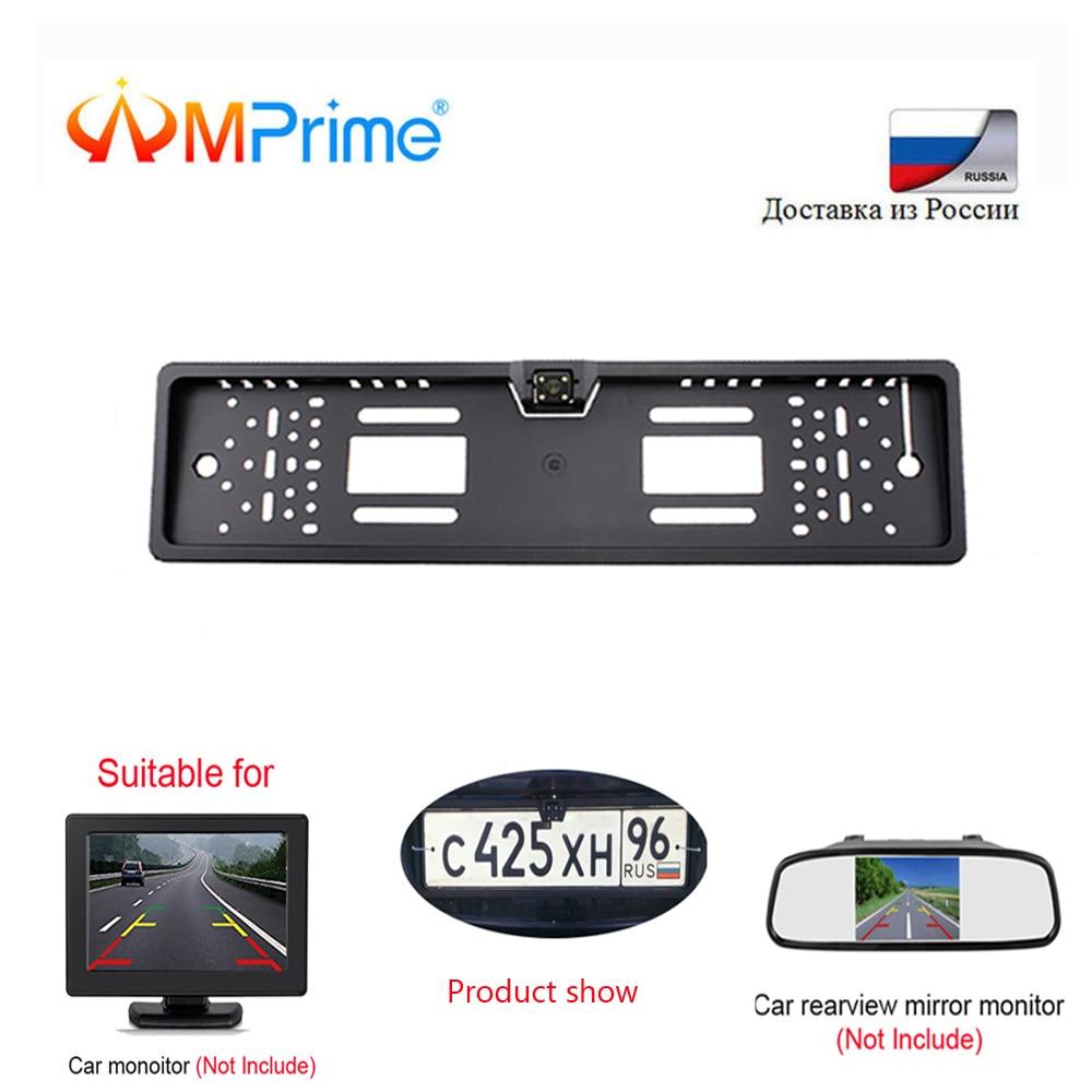 Amprime License-Plate-Frame Backup Car-Number Rear-View-Camera Night-Vision 140-Degree