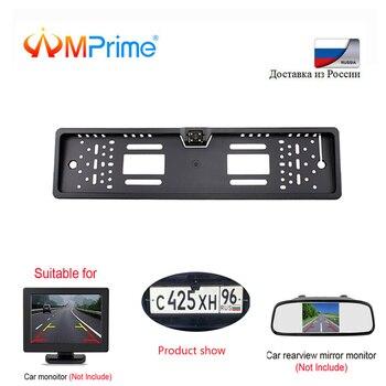 AMPrime 140 Derece Su Geçirmez Avrupa plaka çerçevesi Yedekleme Araba Numarası Dikiz Kamera 4 LED Gece Görüş araba-styling
