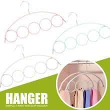 Пластик вешалки для ремней стойка для шарфов 5 отверстий органайзер для шарфов вешалка держатель для галстуков практичный 3 цвета Домашняя одежда брюки вешалка для хранения