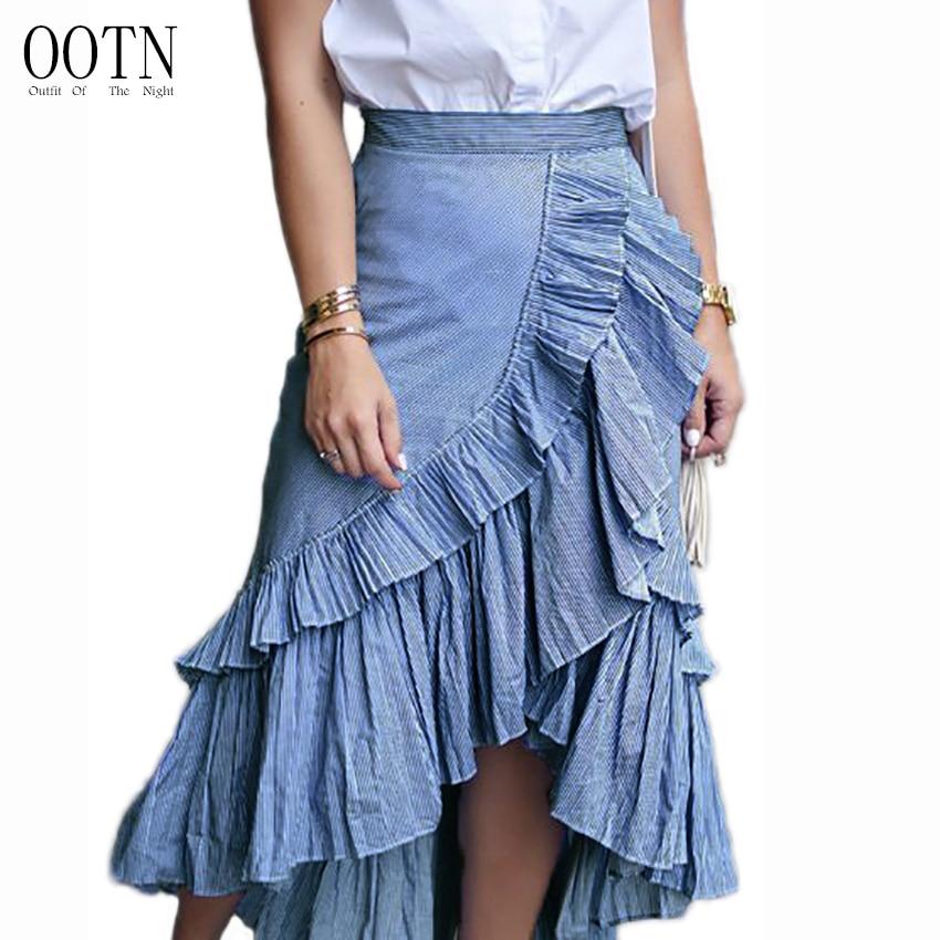 OOTN Midi Skirt Vintage Long Skirt Autumn 2018 Women