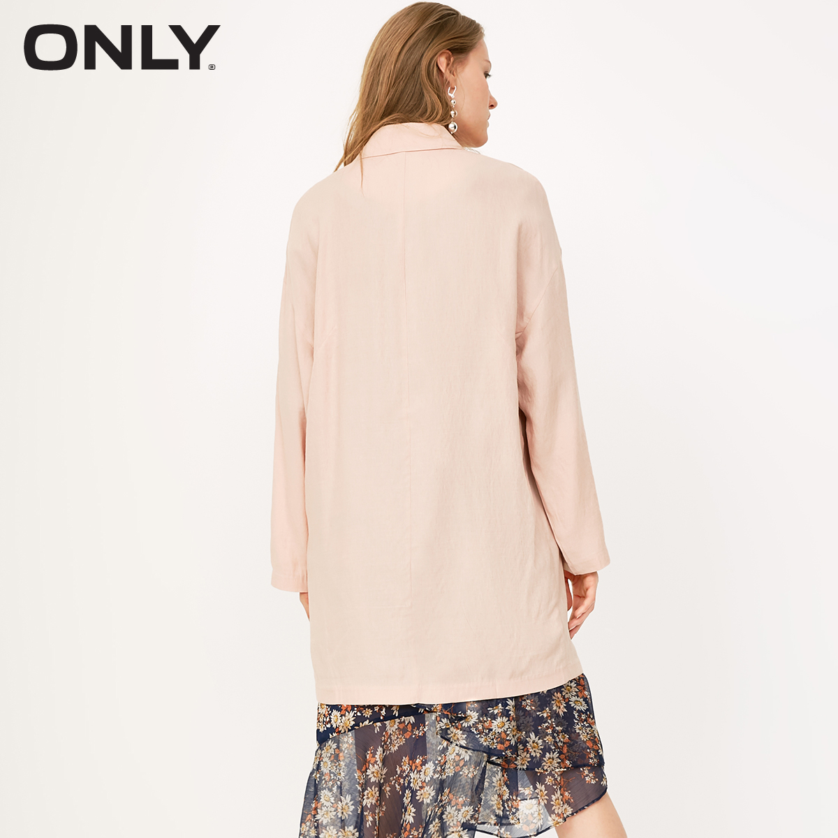 ONLY 2019 Spring Summer New Women's Double-Breasted Medium Length Blazer |118108529