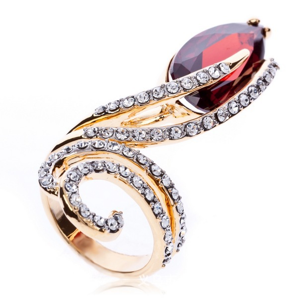 amazing wedding party ring women drop cubic zirconia garnet rhinestone band ring jewelrychina - Amazing Wedding Rings