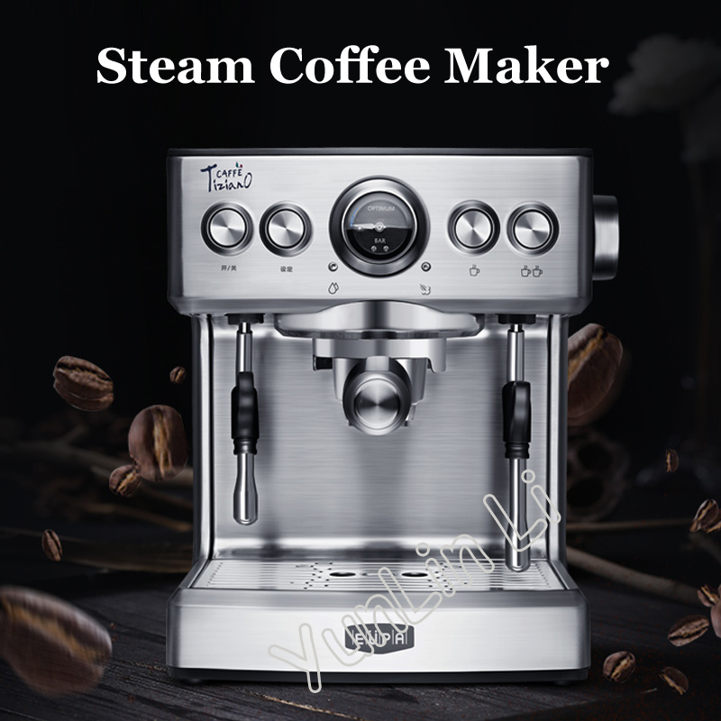 Espresso Coffee Maker 2.1L Commercial Steam Coffee Making Machine Semi-automatic Coffee MachineTSK-1837B crm3012 semi automatic espresso coffee machine 3000w 1 7l double boilers commercial coffee maker high pressure steam integrated