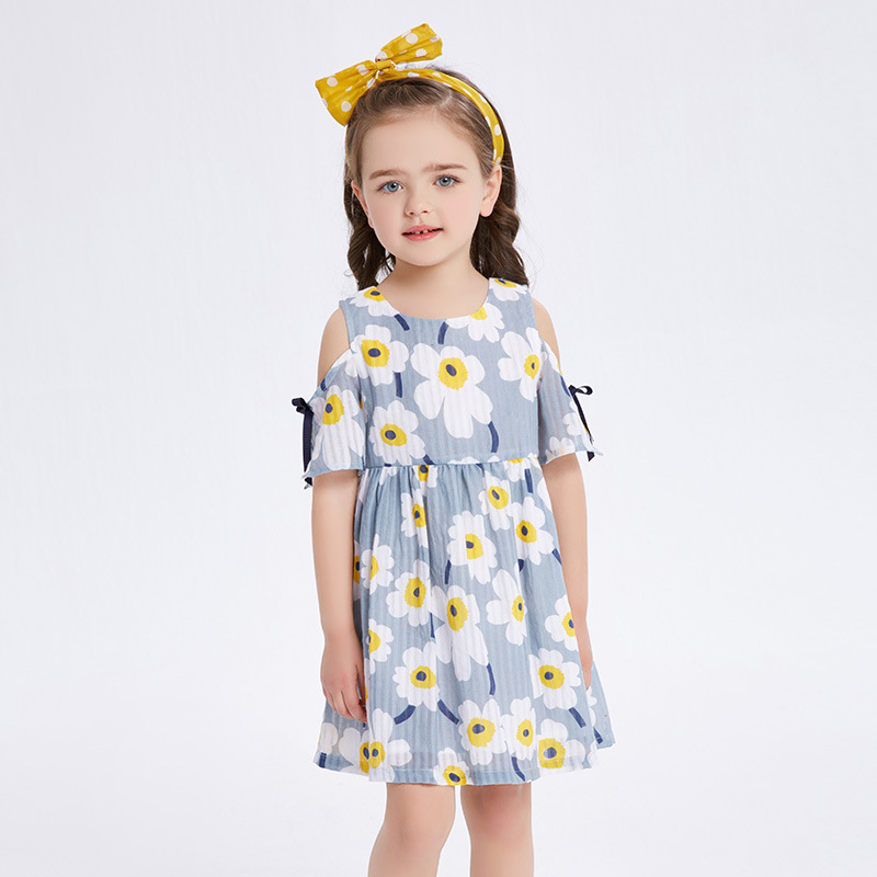 Baby Girls Dress Brand Summer Beach Style Floral Print Party Dresses For Girls Vintage Casual Children Dress Girl Clothing 1-9Y платье для девочек party dresses for girls baby 2 11 casual girl dress