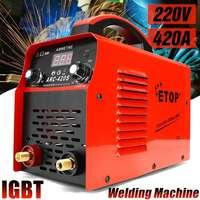 220V DC Inverter ARC Welders 0 420A Handheld IGBT Inverter Mini Electric ARC Welding Welders Inverter Machine Tool