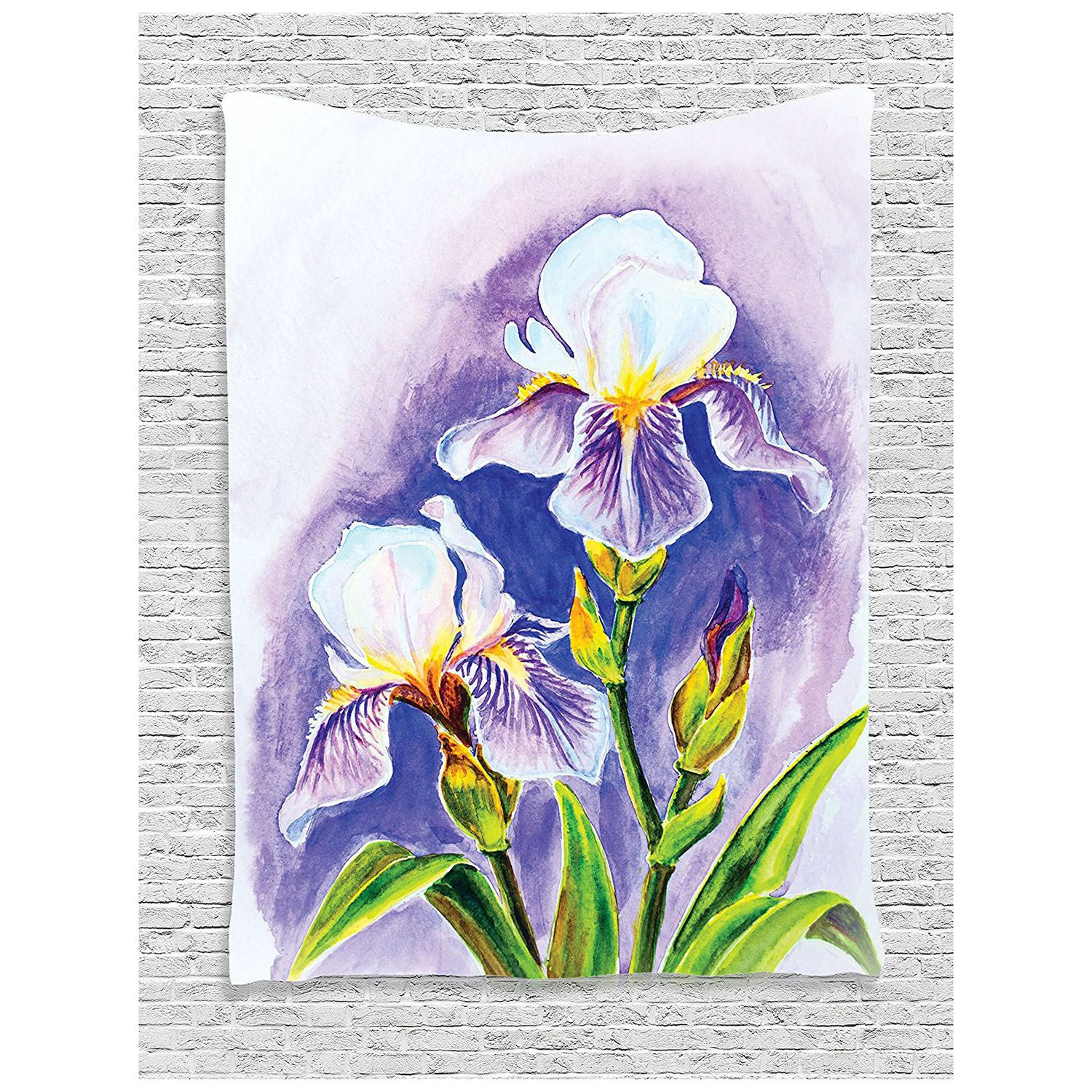 Watercolor Flower Decor Collection Painting Of Iris Flower Elegant