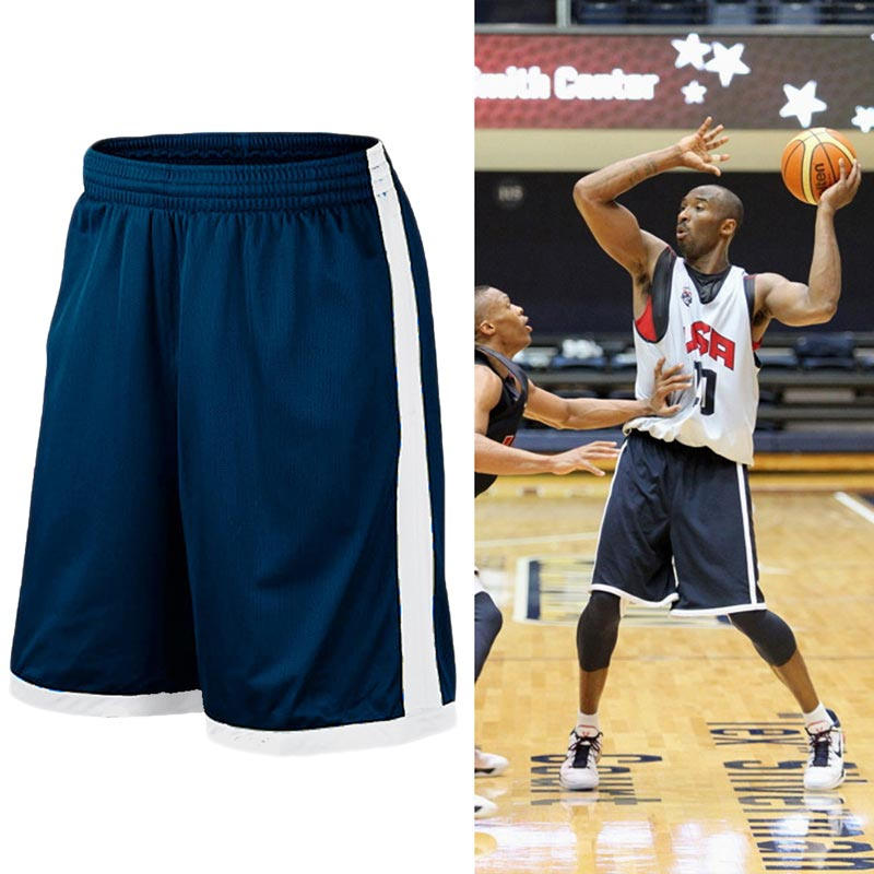 Basketball Shorts Plus Size Men Sport Short Men's USA Quick Dry Basketball Shorts with Pockets High Quality Basketball Jersey fake necktie emblem pockets embellished shorts sleeves shirt for men