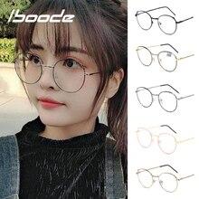 Iboode очки для чтения для женщин и мужчин анти синий луч света очки кошачьи уши металлическая оправа оптические очки диоптрий+ 1,0~ 4,0