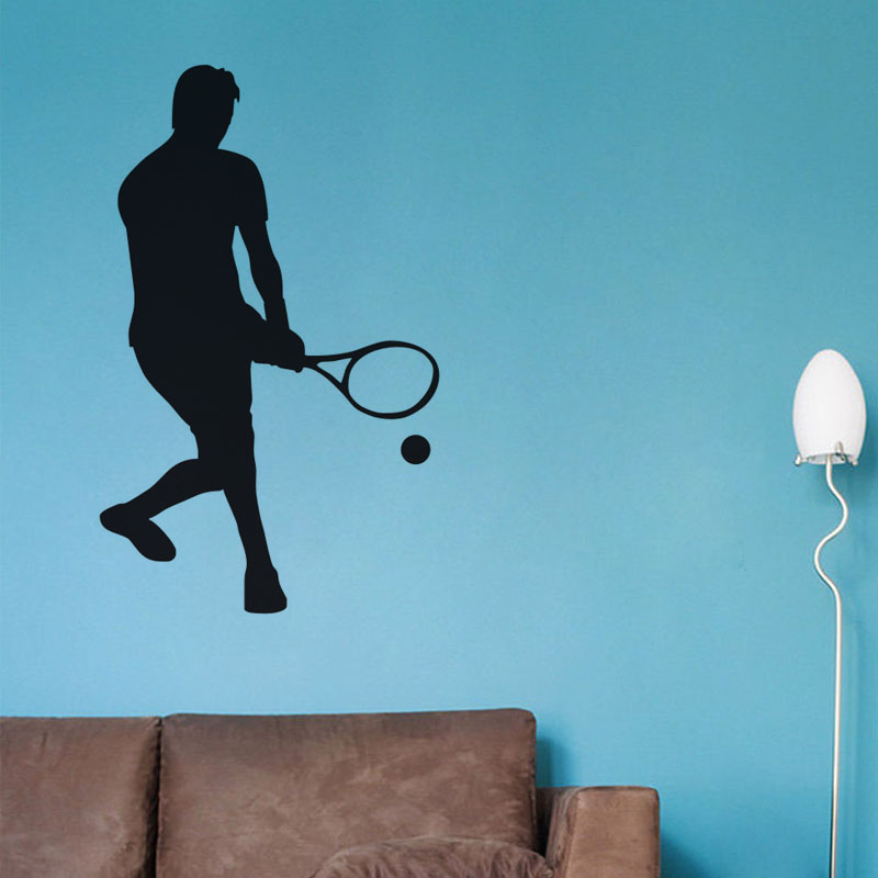 Low Serve Tennis Wall Sticker Diy Home Decor Vinyl Removable Wall Decal Self Adhesive Wallpaper For Living Room