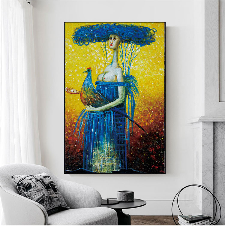 Chenfart Wall Pictures Portrait Posters Prints Abstract -8418