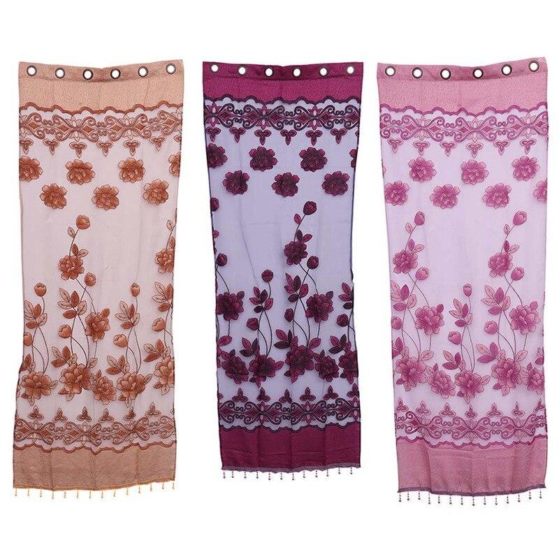 1 Pc Hoge Kwaliteit Thuis Textiel Bloem Geborduurde Luxe 3d Voile Gordijnen Stof Tulle Sheer Gordijnen Voor Slaapkamer Woonkamer