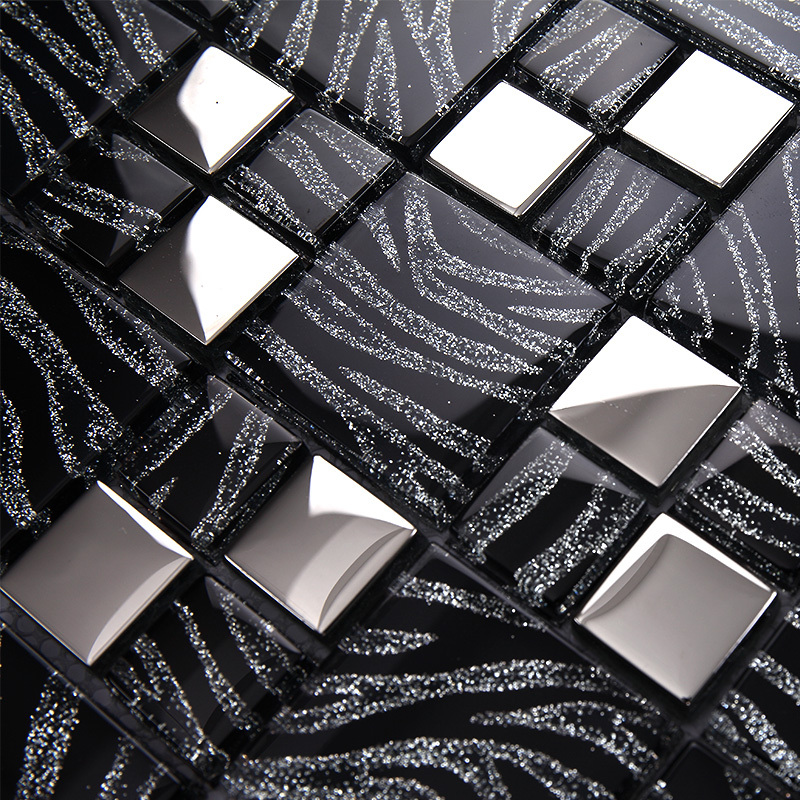 11 Sq.ft Per Lot Metallic Glass Silver Black Zebra Mosaic Tile Backsplash  Kitchen Home Decor Fireplace Bathroom Mirror Wall Tile On Aliexpress.com |  Alibaba ... Part 13