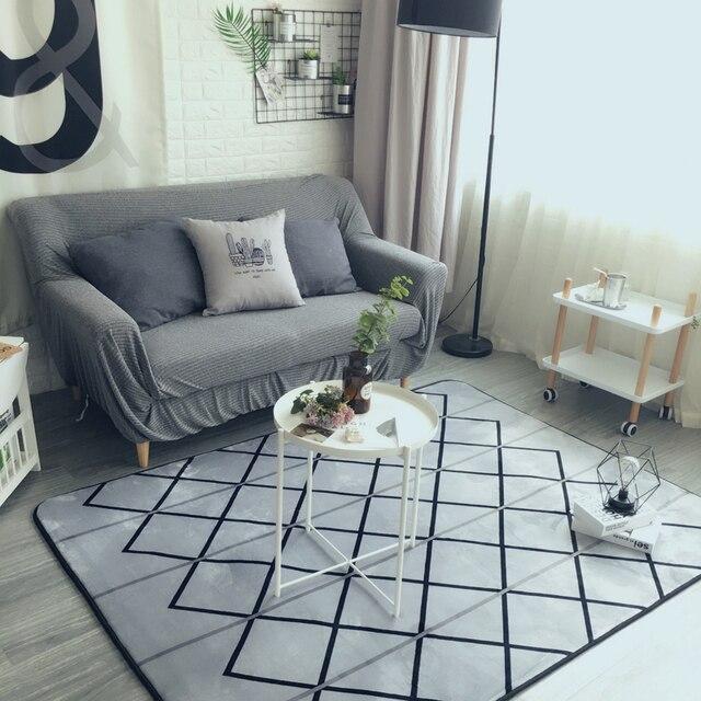 Moda Nowoczesny Geometryczny Szary Sprawdź Salon Sypialnia