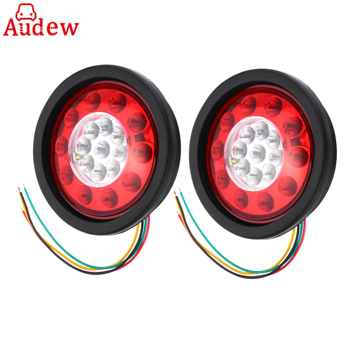 Aliexpress.com : Buy 2Pcs 12V/24V Round Yellow Red 19 LED
