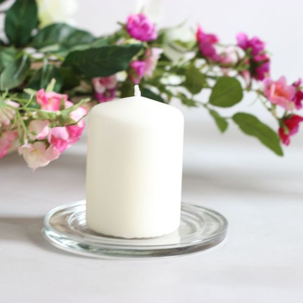 120mm Round transparent Glass candle holder/plate Pure Love home decor 3 pieces & 120mm Round transparent Glass candle holder/plate Pure Love home ...