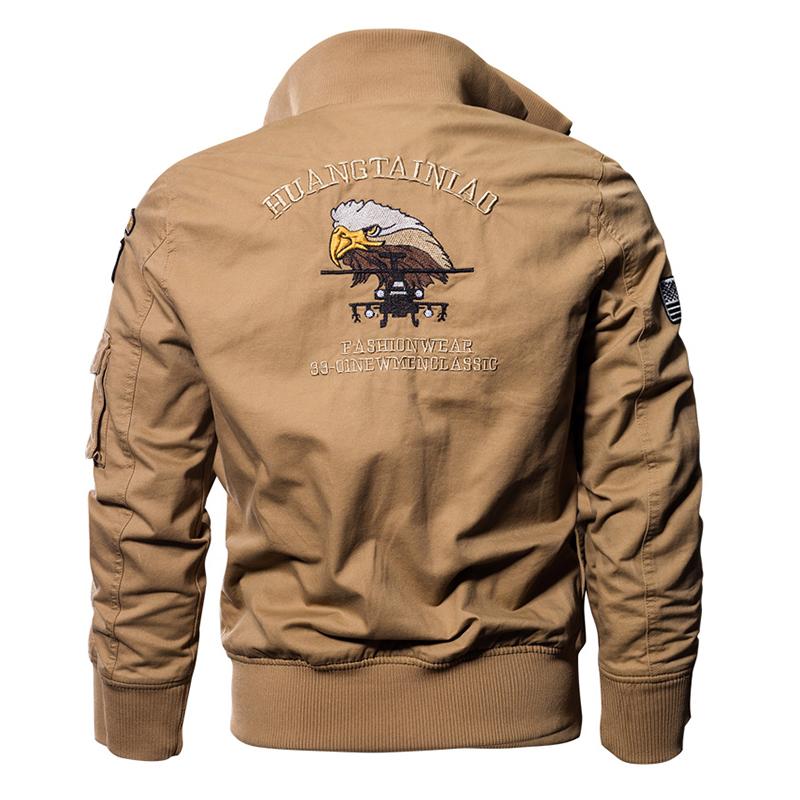 TACVASEN Military Jacket Men Winter Cotton Jacket Coat Army Pilot Jackets Air Force Cargo Coat Autumn Slim type TD-QZQQ-005